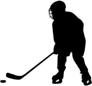 Hockey silhouette